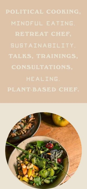 Cardo Utopica plant-based cooking web page design