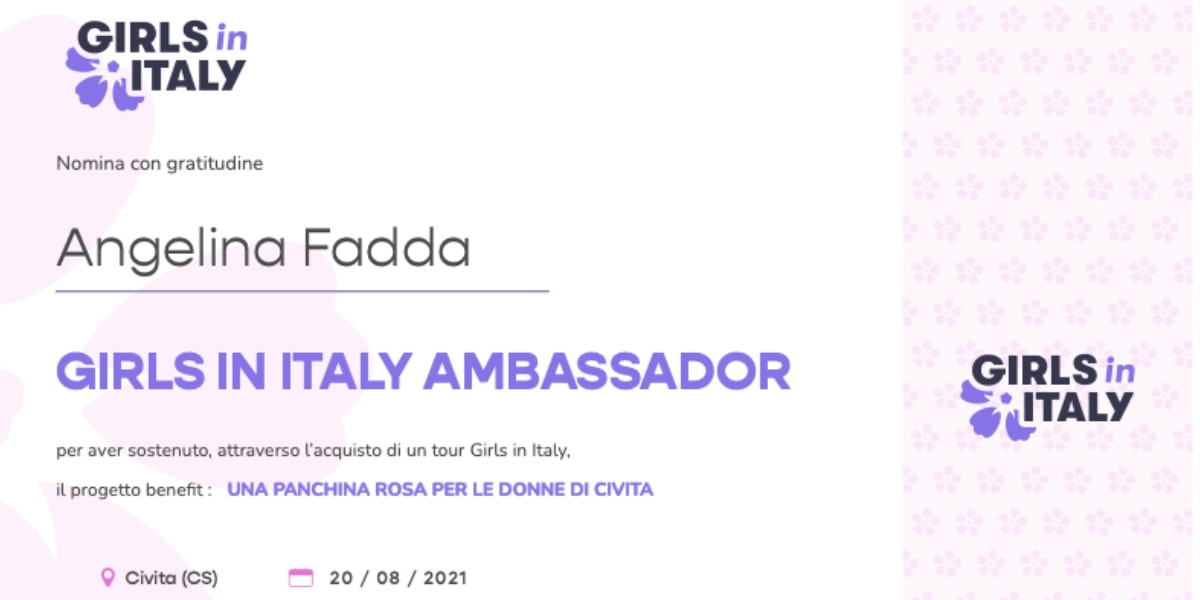 Pergamena Girls in Italy Ambassador