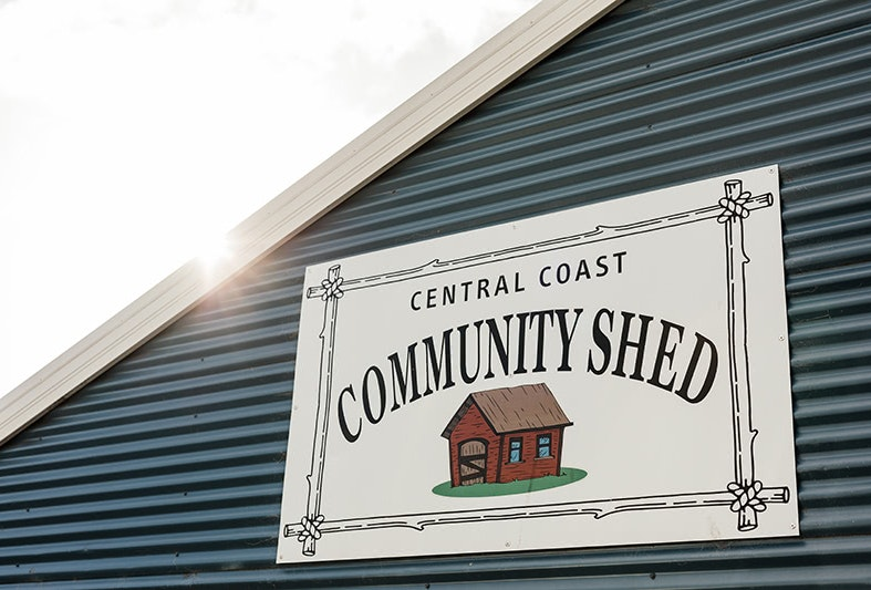 Central Coast Community Shed sign