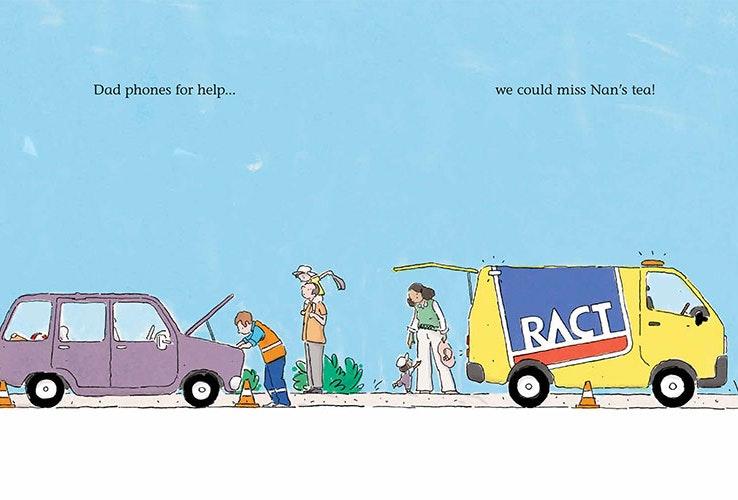 RACT van attending to a broken down vehicle