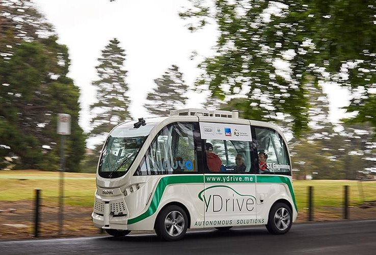 Driverless vehicle in operation