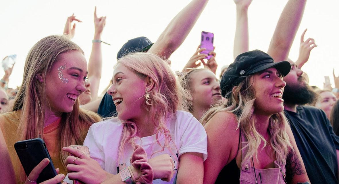 A festival crowd.
