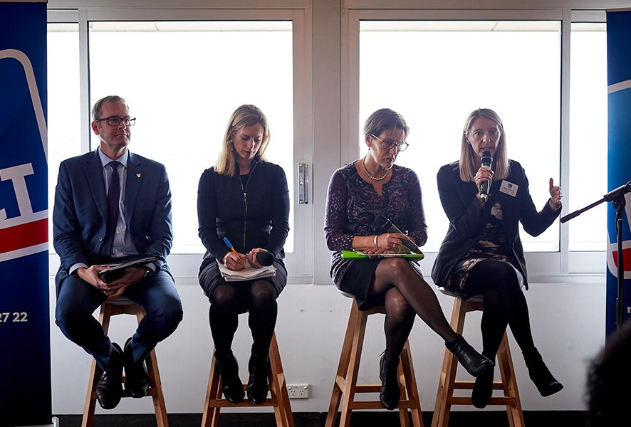 Mobility Futures Forum panel included Michael Ferguson, Rebecca White, Cassy O'Connor and Stacey Pennicott.