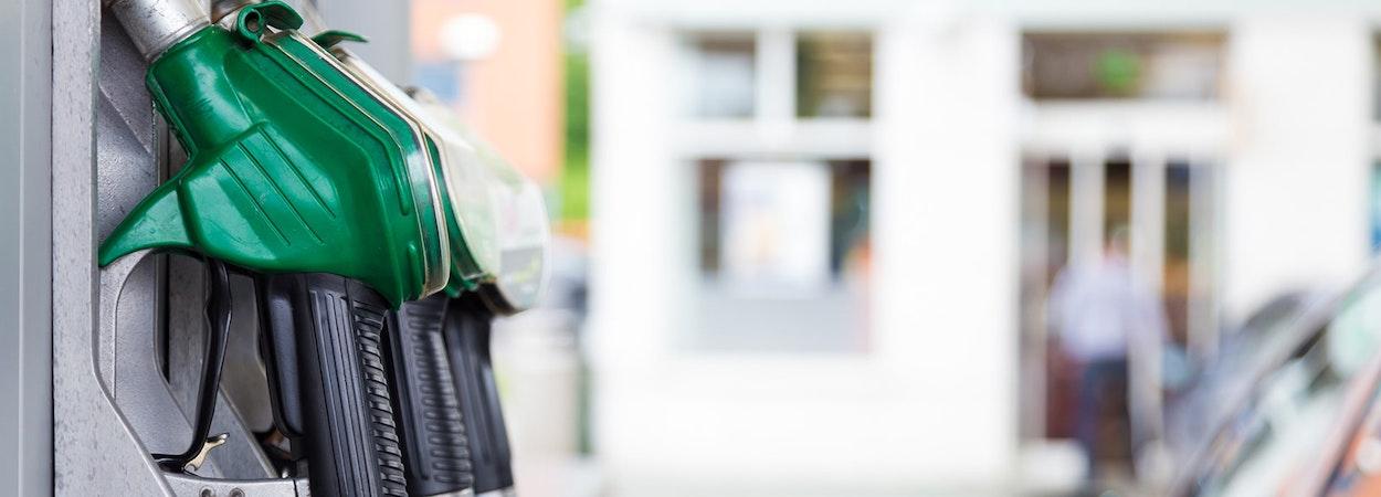 close up photo of petrol bowser