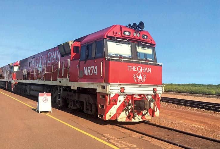 The Ghan departing from Darwin