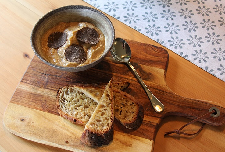 Delicious food featuring truffles.