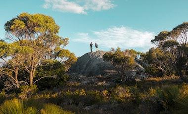 Couple walking Wukalina walk