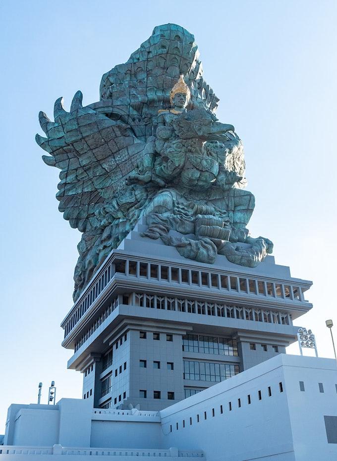 The god Wisnu riding the Garuda at GWK.