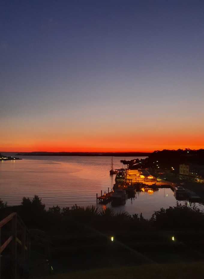 Sunset over Strahan