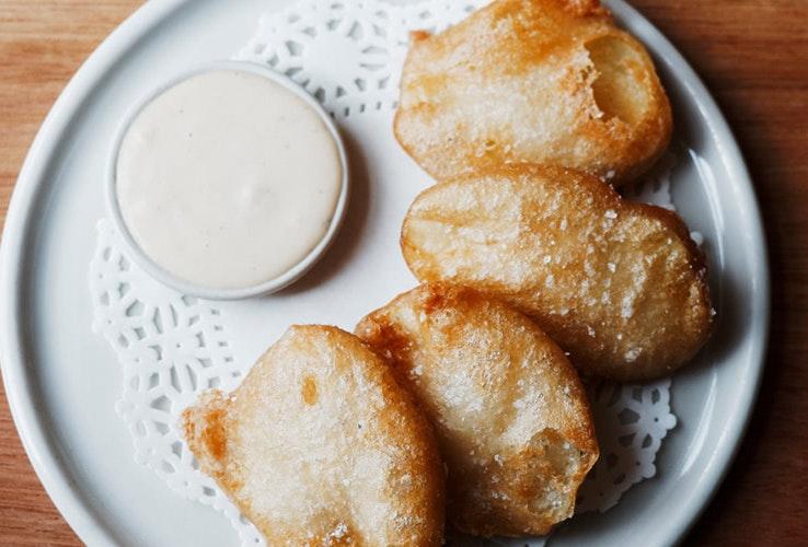 Sourdough potato cakes