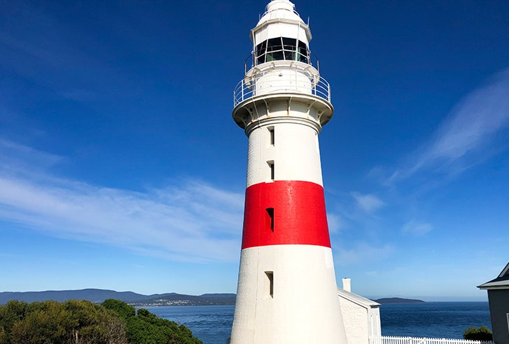 The Low Head lighthouse.