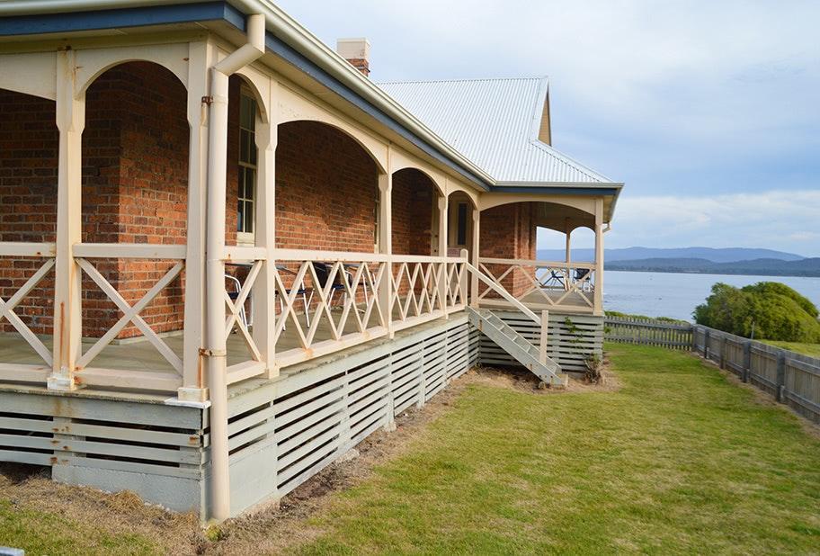 The historic Queenslander accommodation, overlooking beautiful water views.