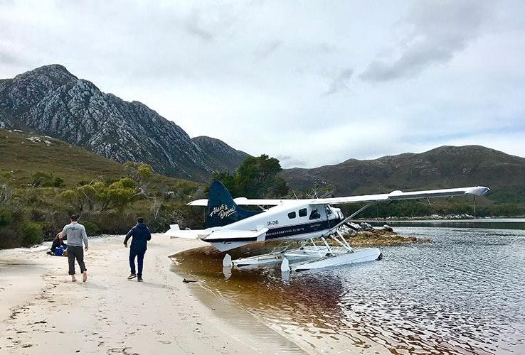 Seaplane near the beach.