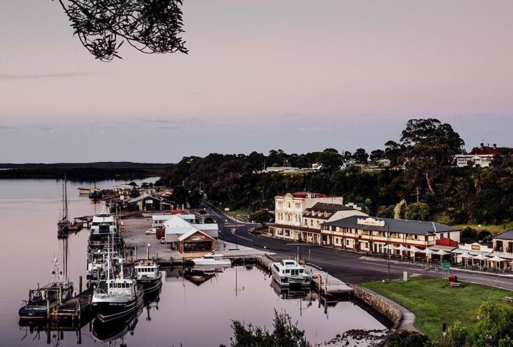 Waterfront views.