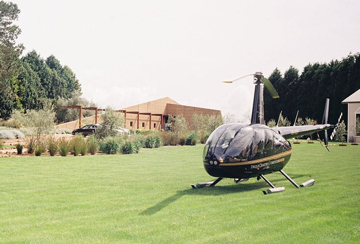 Helicopter exterior.