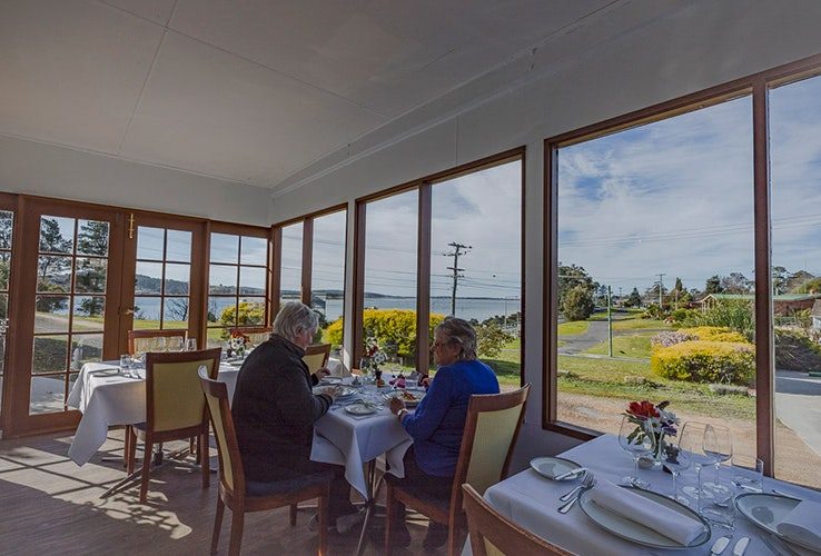 Views of the water from Furneaux restaurant