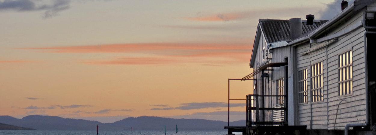Sunset at Dunalley
