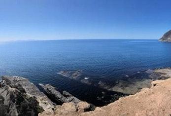 Clifftop view.
