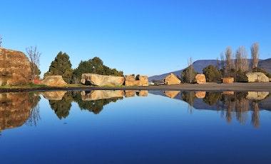 Reflection of Mt Wellington from Shoobridge Park, Austins Ferry