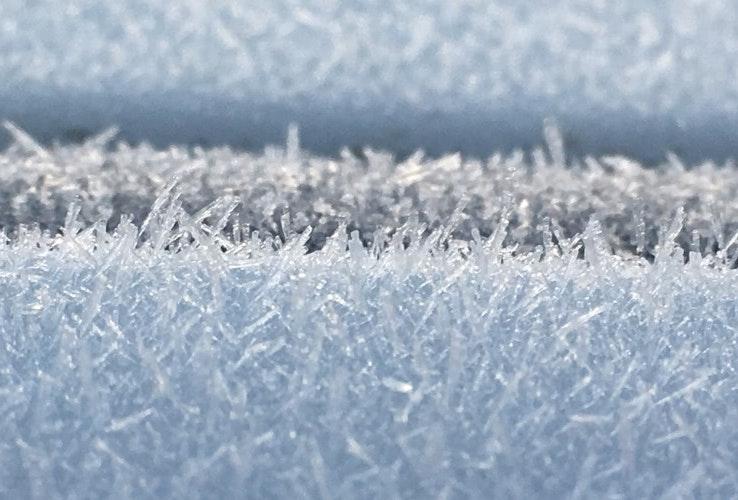 Frost on a car in Launceston