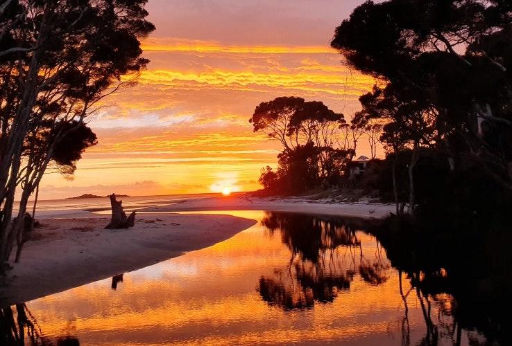 Sunrise at Sisters Beach