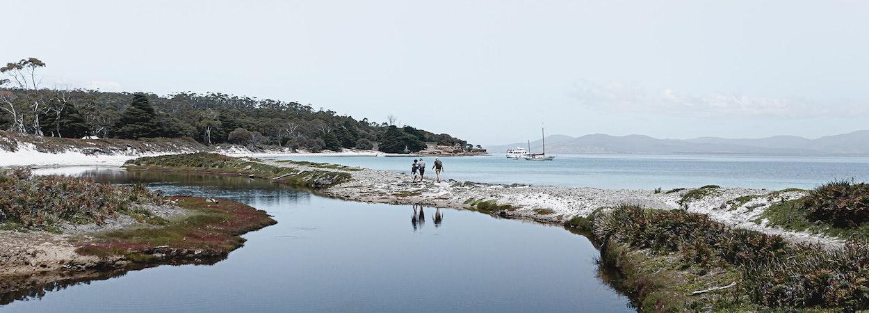 Serene bay on Maria Island