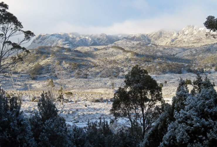 Snow at Cradle Mountain