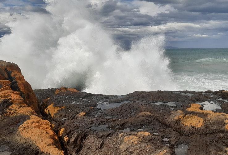 Waves crashing at Spiky Beach