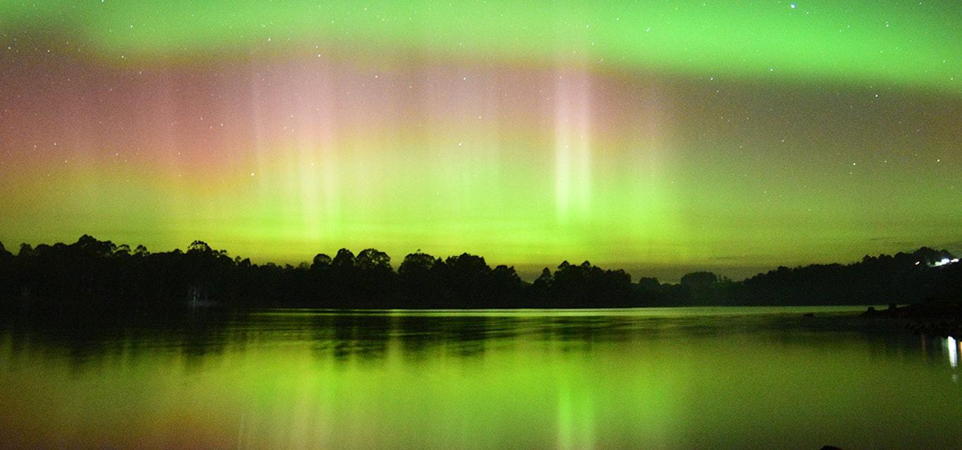 Aurora australis in Burnie