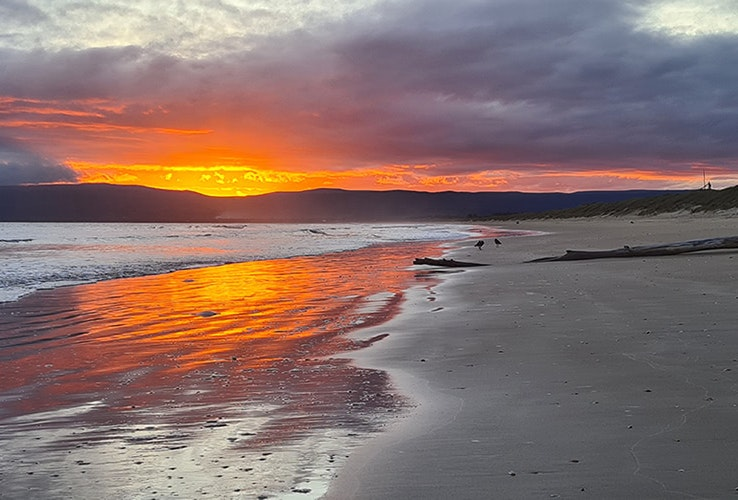 Sunset on the beach at Dolphin Sands