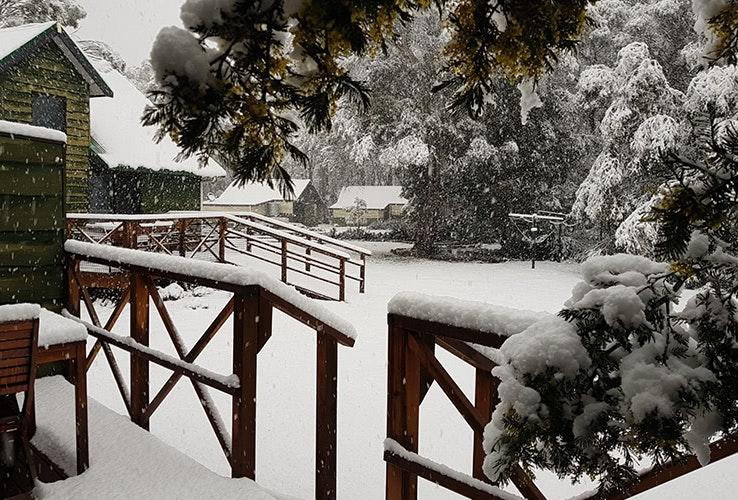 Snow at Derwent Bridge