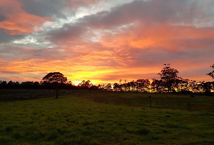 Sunset at Milabena