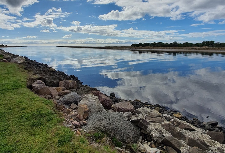 Reflections on the Leven River in Ulverstone