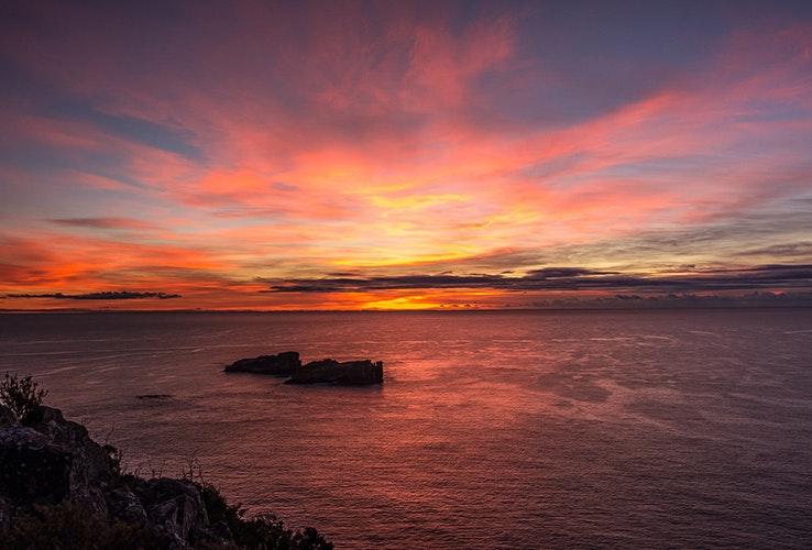 Sunrise at Coles Bay