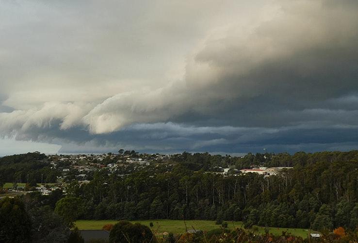 Storm rolling in over Devonport