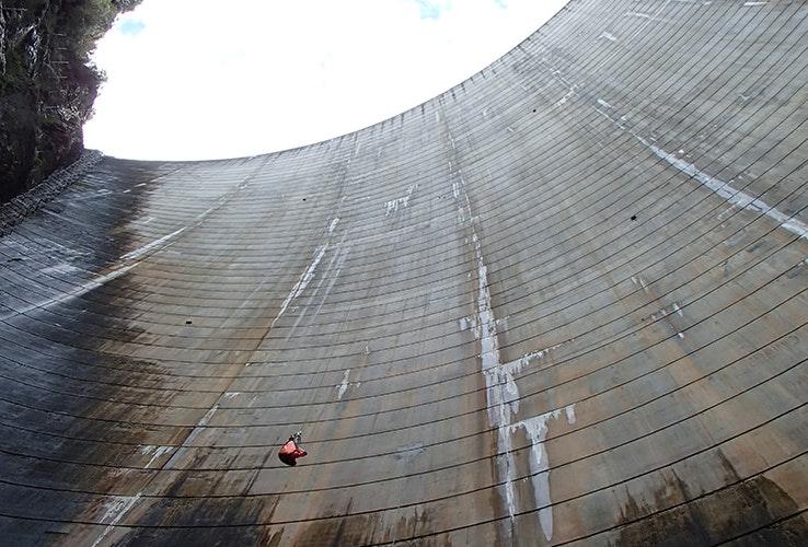 Water dam.