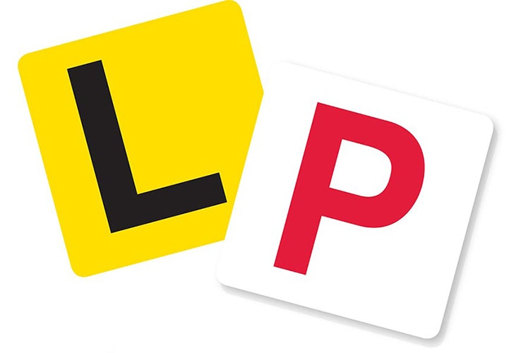 Vector image of little L and P plates.