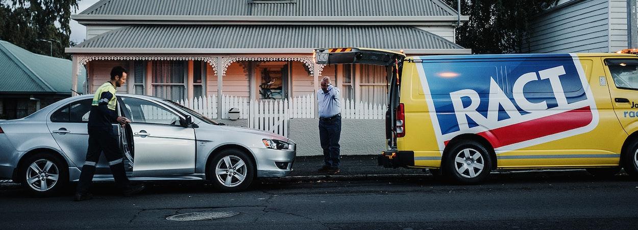 Roadside assistance for car broken down.