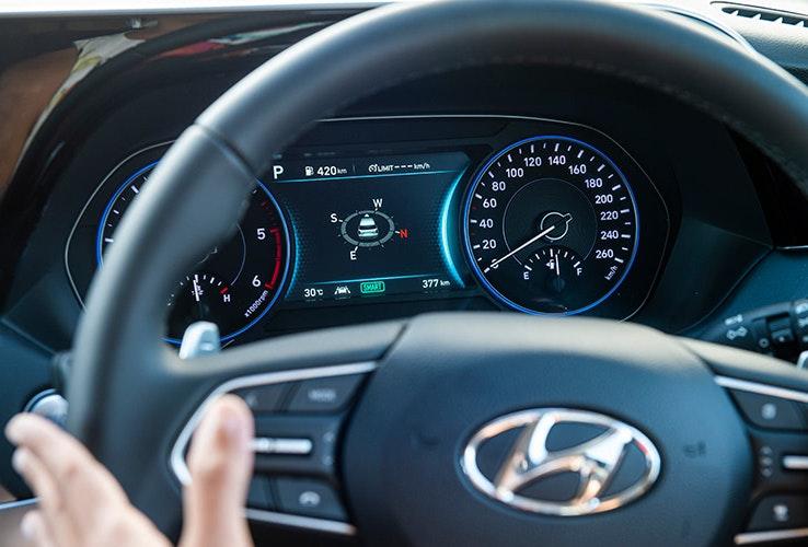 Steering wheel of Hyundai Palisade