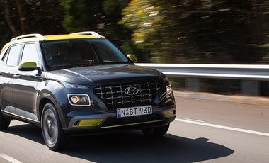 Hyundai Venue driving on highway