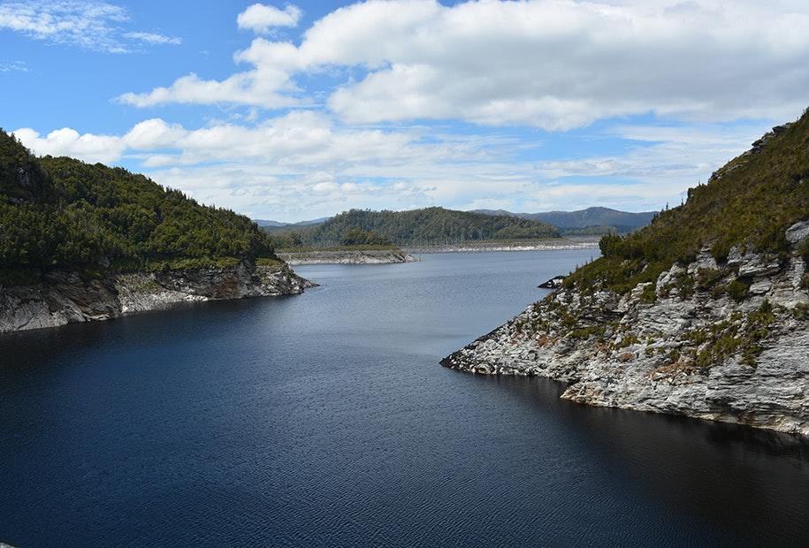 Spectacular views from the Gordon Dam.