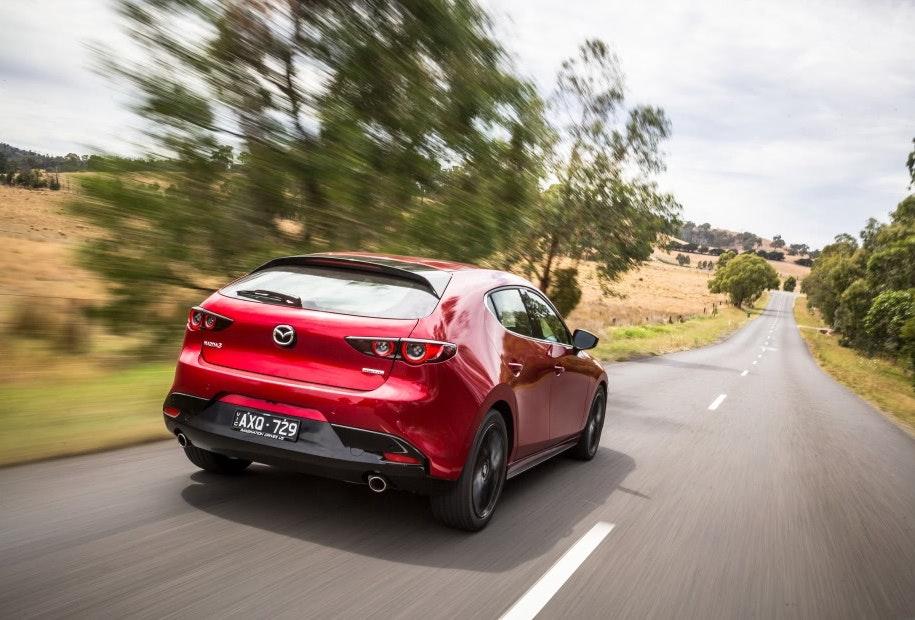 Mazda 3 External Rear Angle Driving