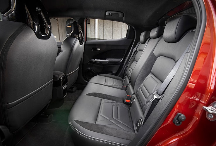 Back seat interior of Nissan Juke