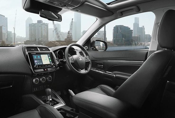 Front interior of Mitsubishi ASX