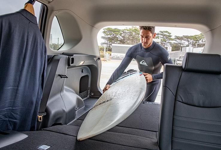 Plenty of room for your surfboard in new Rav 4.