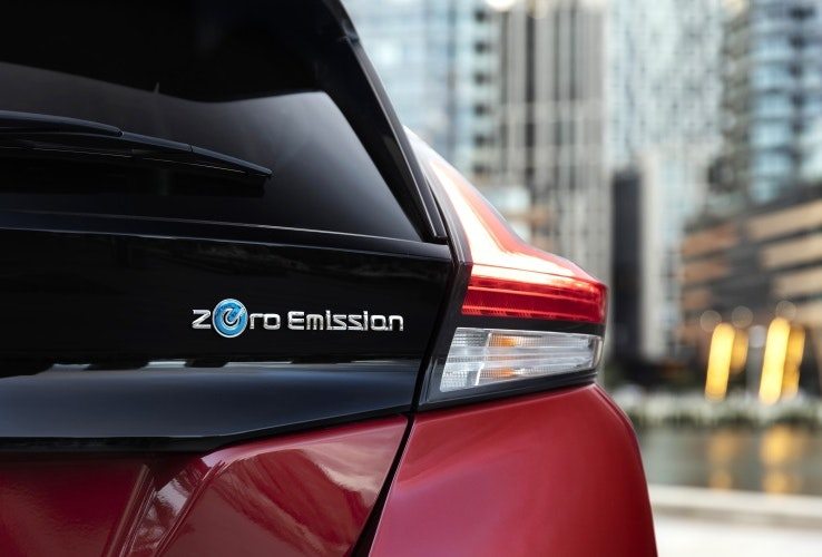 Nissan Leaf Badge and Tail Light