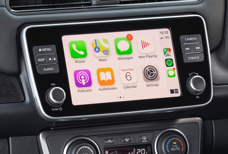 Nissan Leaf touch-screen display
