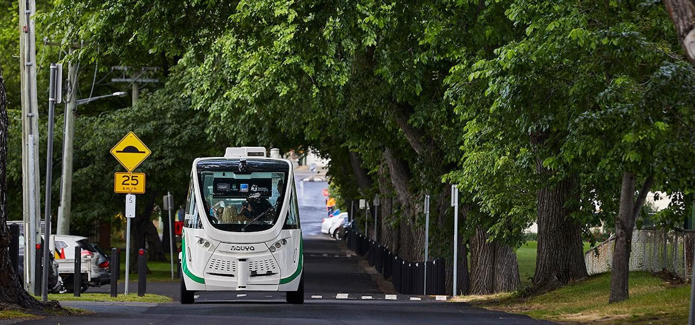 Driverless bus.