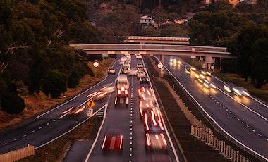 Evening traffic.