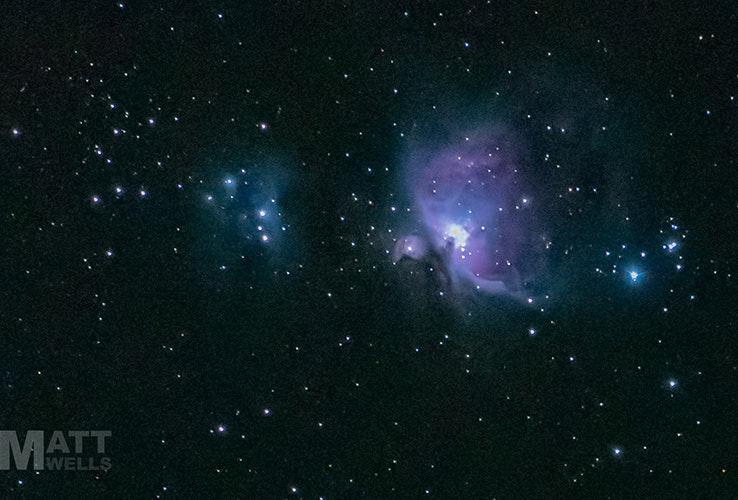 Orion Nebula taken from a suburban backyard